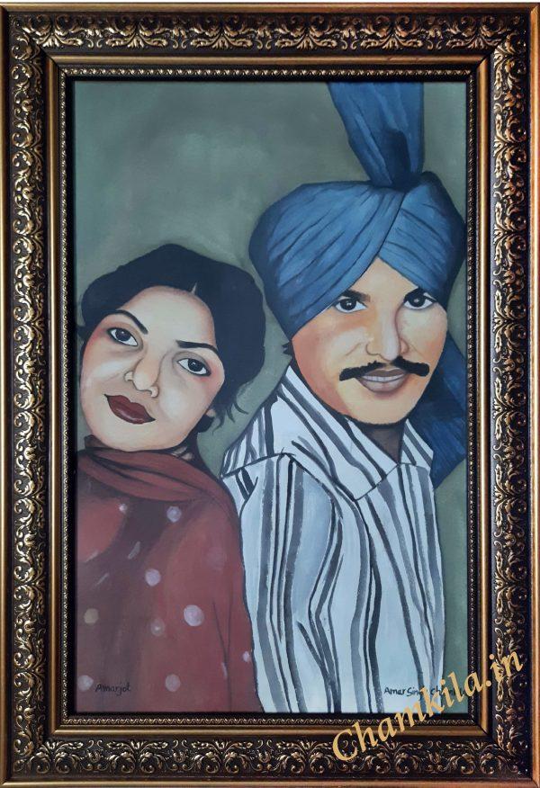 Amar singh chamkila painting